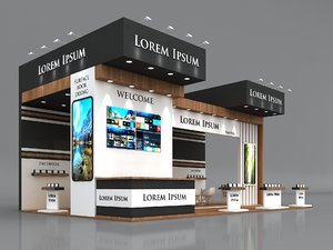 booth exhibition stand stall model