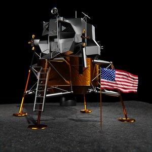 apollo 11 lunar module 3D