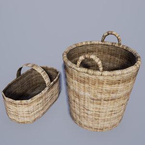 3D 25 medieval village household