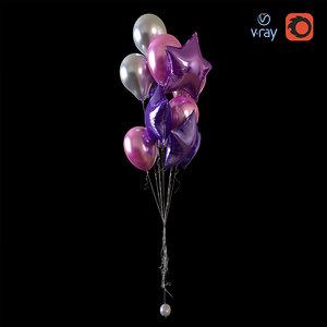 helium balloons 3D