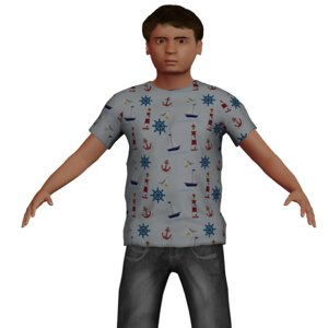 boy rigged clothes model