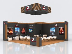 3D stall 900x850cm height 360