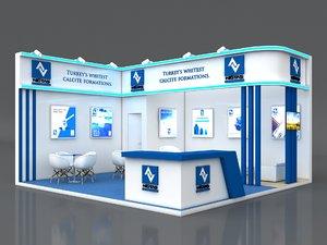 stall 6x6m height 360 3D model