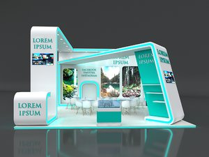 booth exhibit stand 3D model