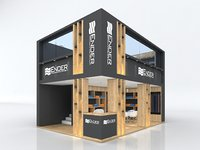 Exhibition Stand Stall Booth Fair 7x5m Height 500 cm 2 Side Open