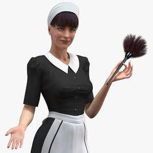housekeeping maid uniform 3D model