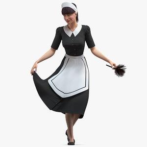 maid curtsy model