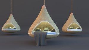 3D swing garden model