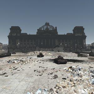 3D reichstag 1945 berlin