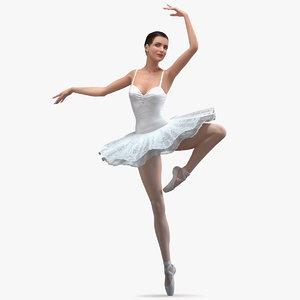 3D ballerina releve pose
