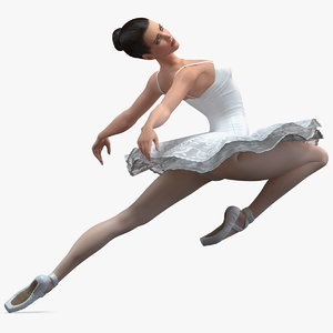 3D ballet dancer ballerina dance