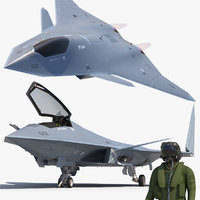 FA-XX Sixth Generation Fighter and Pilot1