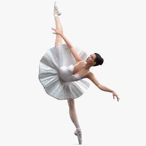 ballerina arabesque pose 3D model