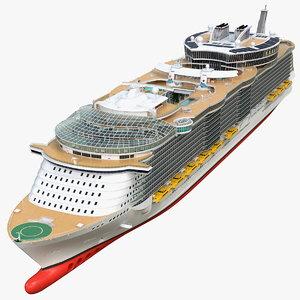 3D cruise ship simple details model