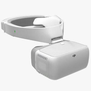 dji goggles fpv drone 3D model