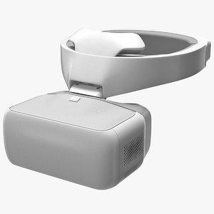 fpv drone googles white 3D model