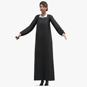 female judge gavel t 3D model