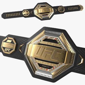 3D ufc legacy championship belt model