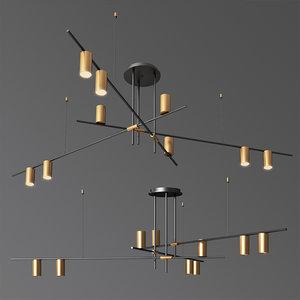 3D model tribes chandelier lightology