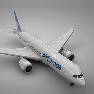 3D boeing 787 air europa