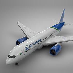 boeing 787 air tanzania 3D model