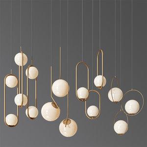 - ceiling light 3 3D model