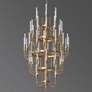 gala chandelier luxxu 3D