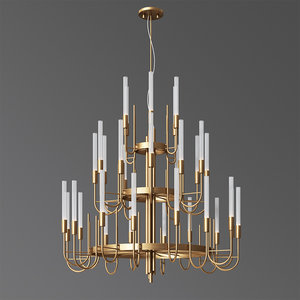 luxxu gala suspension chandelier 3D