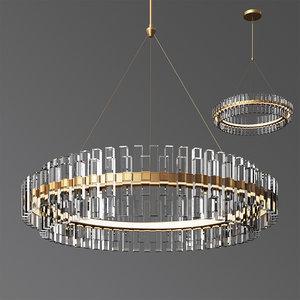 3D phoebe 48 led crystal chandelier