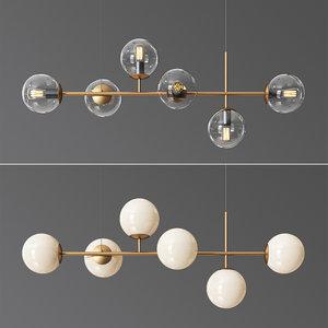 3D model raizer linear chandelier