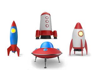 realistic rockets ufo 3D model