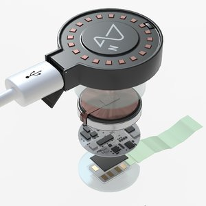 neuralink brain implant pbr 3D model