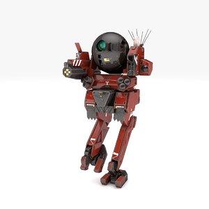 3D trooper robot v2 rigged