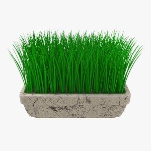 3D pot green