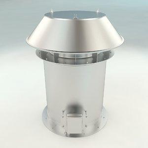 roof ventilation architecture 3D model