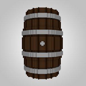 3D model wood wooden voxel