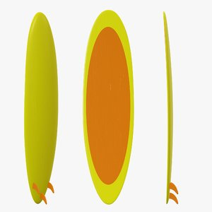 board surfboard surf 3D model