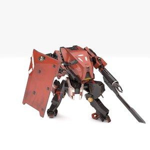 trooper robot v3 rigged 3D model