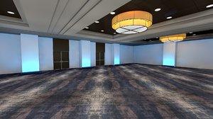 ballroom hotel room 3D model