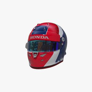 kvyat 2020 helmet 3D