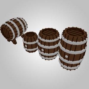 wooden assets 3D