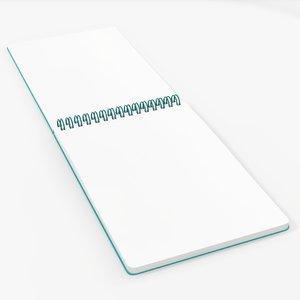 spiral sketchbook book model