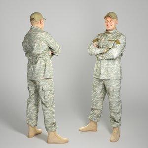 3D photogrammetry soldier american military uniform