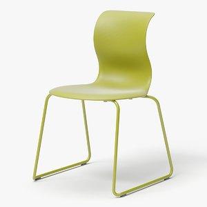 3D modern stackable chair model