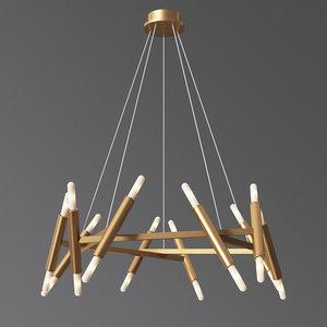3D le pentagon chandelier jonathan