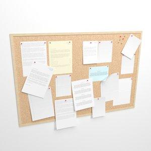 cork board x 3D model