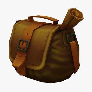 3D bag handpaint gameready