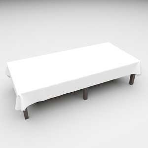 3D rectangular table cloth 137cm model