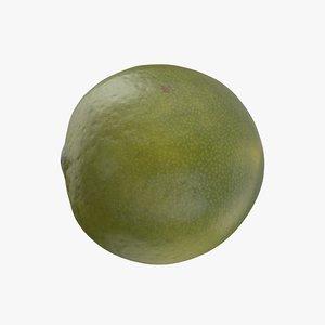 lime fruit food 3D model