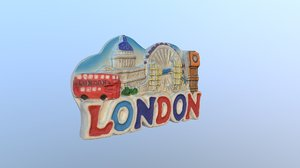 3D model city london england magnet